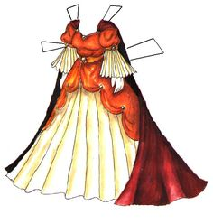 fantasy paper doll dresses | Two More Fantasy Princess Gowns from Liana's Paperdoll Boutique