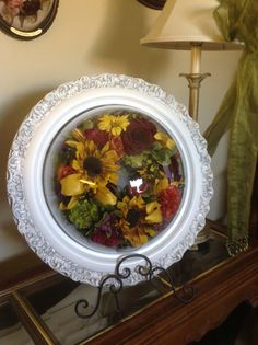 Look at this preserved floral wreath! Suspended in time of layton Flower Preservation, How To Preserve Flowers, Preserves, Floral Wreath, Wreaths, Home Decor, Dry Flowers, Decoration Home, Door Wreaths