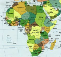 carte afrique; map of Africa
