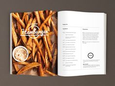Design Graphic | Editorial Design | Page Layout | Magazine Layout | Typography | Logo | Spread | Hamburger Recipe | Design graphique | Éditorial | Mise en page | Mise en page de magazine | Typographie | Double-page | Recette de Hamburger | www.julienponton.com