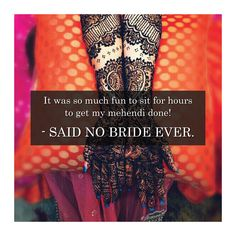 Mehndi functions are super fun for the bride, NOT?? Hours of sitting still! Aching bones! Untimely itch on the arm! And the sudden craving for eating just about anything with your own two hands! Tap in agreement brides! #shaandaarweddingz #wedding #loveweddings #marriageceremony #marriage