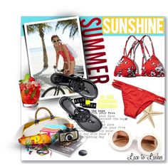 Summer Sunshine by lacetolashes on Polyvore featuring moda, Abercrombie & Fitch, Tory Burch, Wildfox, Coach, Jason, Monsoon, BC Footwear, Summer and sunniesandswimwear