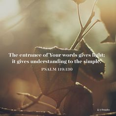 His Word is a light in the darkness. #ihopkc #understanding #holyteacher
