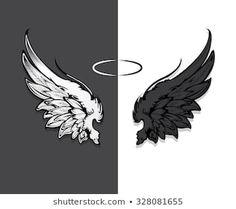 Wings Wallpaper, Background Wallpaper For Photoshop, Photo Background Images Hd, Angel Wallpaper, Glitch Wallpaper, Dark Wallpaper Iphone, Angel Wings Drawing, Angel Wings Art, Wings Sketch