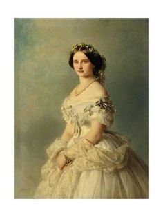 Giclee Print: Portrait of Princess Louise of Prussia, 1856 by Franz Xaver Winterhalter : 24x18in