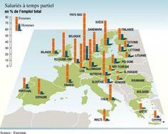 Travail à temps partiel dans l'Union européenne, par Philippe Rekacewicz (Le Monde diplomatique, mai 2008)