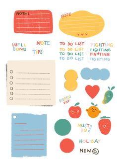 Cute Notes, Good Notes, Journal Stickers, Planner Stickers, Memo Notepad, Note Doodles, Budget Planer, Bullet Journal Ideas Pages, Aesthetic Stickers