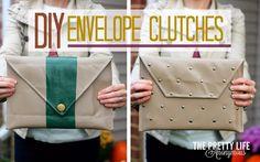 The Pretty Life Girls: PLA DIY: The Envelope Clutch