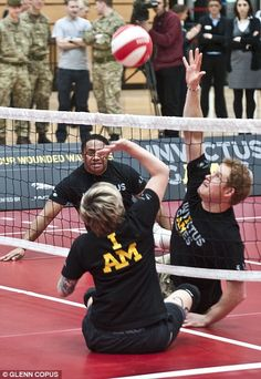 Prince Harry plays a practice match at the Invictus Games, a new international sporting event for wounded, injured and sick Service personne...