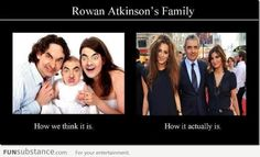 Mr. Bean's real family. . .Expectation and Reality