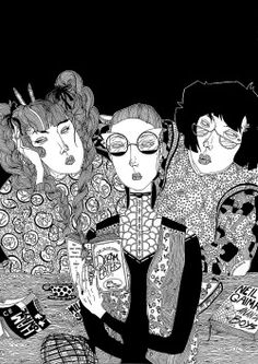 Library Girls by Kaethe Butcher