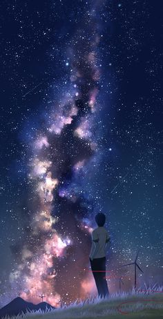 Art scenery - Best of Wallpapers for Andriod and ios Sky Anime, Anime Galaxy, Galaxy Art, Dark Anime, Anime Art, Galaxy Space, Anime Backgrounds Wallpapers, Anime Scenery Wallpaper, Animes Wallpapers