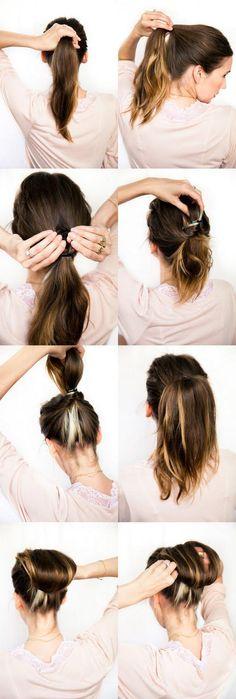 DIY wedding hair: Chestnut bun Tutorial