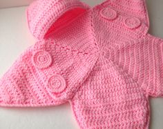 Baby Bunting Bag - Pink Star Bunting - Handmade Crochet - Made to Order