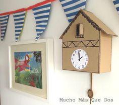 DIY Reloj Cuco de cartón