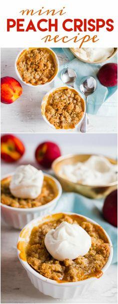 Mini Peach Crisps recipe. SO GOOD! You