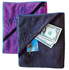 Fitness Towel with ZIPPER POCKET!  Introductory price only $16.99!!!