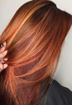 50 copper hair shades that can inspire you - Red Hair - Hair Hair Color Shades, Red Hair Color, Cool Hair Color, Blonde Shades, Red Colour, Ombre Colour, Copper Hair Colors, Auburn Hair Copper, Golden Copper Hair