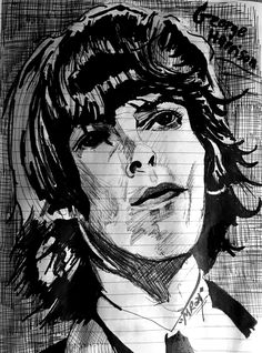 pen & sharpie (7 February 2021) 7 February, Weird Drawings, George Harrison, Sharpie, Joker, Artists, Fictional Characters, Jokers, Artist