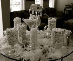 white candy buffet | View our Candy Buffet Pictures & Be Inspired