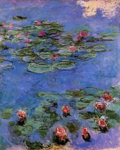 Claude Monet - Red Water-Lillies, 1914-1917 Nympheas Rouges