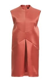 This sleeveless silk satin Ellery dress features a high round neck and an inverted box pleat at the drop waist.Hidden zip back closure100% silkFully linedMade in AustraliaPlease note: This item is returnable for credit or full refund.