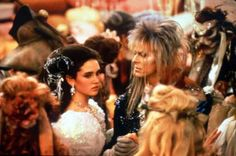 Still of Jennifer Connelly and David Bowie in Labyrinth - Dove tutto è possibile David Bowie, Erin Stewart, Jennifer Connelly Young, Sarah And Jareth, Stone Age Man, Christina Rossetti, Star David, Movies Worth Watching, Falling Down