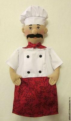 """Купить Пакетница """"Повар"""" - кухня, пакетница, повар, кукла пакетница, мужчина, подарок на любой случай"""