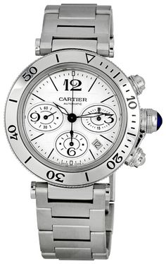 Cartier Pasha Seatimer Mens Watch W31089M7  $7,585.00