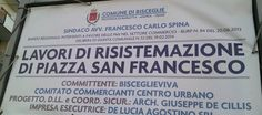 Piazzetta San Francesco, il notaio Consiglio denuncia: « È una nuova spianata di cemento!»