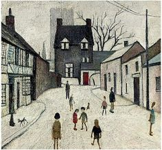 Artist L S Lowry The Green, Northleach, Gloucestershire