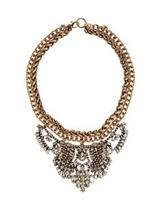 Mango Wow Statement Chain And Crystal Necklace