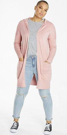 Plus Size Blush Cardigan Outfit - Plus Size Fall Outfit - Plus Size Fashion for Women - alexawebb.com