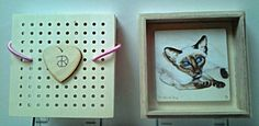 This tiny Artwork, 7x7 cm painted in oil on masonite, comes with a wooden box 10x10x3 cm. This miniature is a unique art piece and painted in the classical technique of dead painting, also called Verdaccio.    The wooden box has been specially created and serves not only as a gift box but also as a useful frame. The painting has to be pasted into the box with the supplied double-sided tape. And at the back you paste the supplied hook. So the painting is all set to decorate your wall. You can…