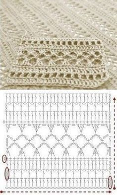 Tutorial: Crochet chart reading Explained nicely for a beginner.Discover thousands of images about Tutorial: Crochet chart readingCROCHET - Lovely Feminine Wide Boarder Lattice Stitch Pattern (Asian Pattern, Found on Russian Website (allmyhobby. Poncho Crochet, Crochet Shawl Diagram, Crochet Stitches Chart, Crochet Lace Edging, Crochet Motifs, Crochet Squares, Filet Crochet, Crochet Doilies, Bandeau Crochet