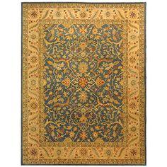 Safavieh Handmade Antiquities Mahal Blue/ Beige Wool Rug (7'6 x 9'6)
