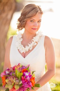 White Orchid Bridal Lei