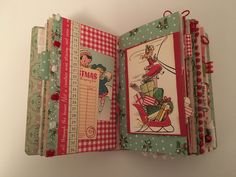 Retro Christmas journal