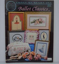 Ballet Classics Cross Stitch Pattern Cross My Heart featuring designs of a Ballet Dancer, Toe Shoe, Firebird Dancer, and the Bar