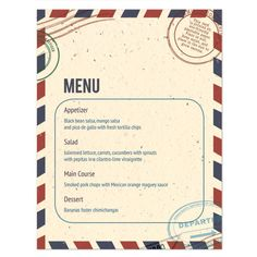 Plantable Passport Menu Card