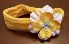 Baby Girl Headband-Yellow and White by LoveFromAshley on Etsy