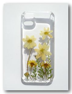 iPhone 5 case Resin with Real Flowers Dried by Annysworkshop, $18.00