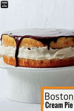 Pastry chef Stella Parks makes the very best Boston cream pie, with an addictively light and delicately sweet pastry cream filling and a great sponge cake. She tops it with just enough silky chocolate ganache and serves it cold. | Food & WIne