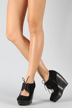 Black Wedges (would go great w/ an Alice in Wonderland Outfit)
