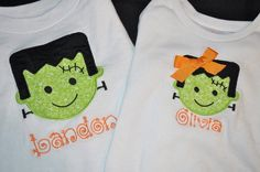 Customized Halloween Applique Shirt by SugarandSassyfras on Etsy, $20.00