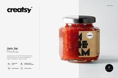 Jam Jar Mockups by Creatsy on @creativemarket