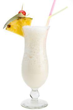 Captain's Colada - 1 1/4 oz Captain Morgan® Original spiced rum, 3 oz pineapple juice, 1 oz cream of coconut, 1/2 cup crushed ice