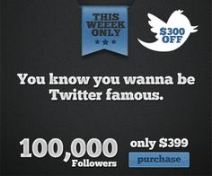 Buy Twitter Followers from Fast Followerz. Share this photo and receive $300 off your order.