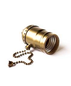 Vintage Bulb Holder - Alu Zip Bronze - William & Watson