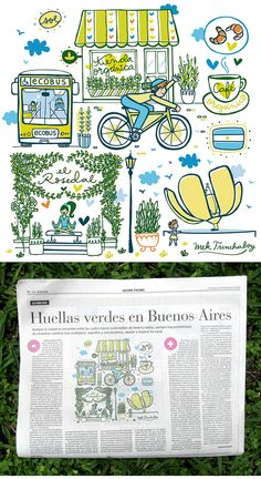 Illustrations & Lettering for Buenos Aires Newspaper